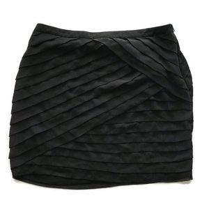 New York & Company Black Ruffled Skirt Size 14